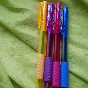 Different colored ink pens